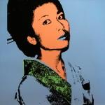 Kimiko 1981 serigraph 36 x 36 in.