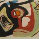 Anne Wall Thomas, Composition No. 1, 1955 serigraph 9 x 20