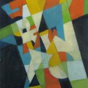 Anne Wall Thomas, Homage to Kandinsky, 2011 acrylic 19.75 x 12.75