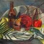 E. C. Langford Still Life with Beer Bottle and Coke Bottle