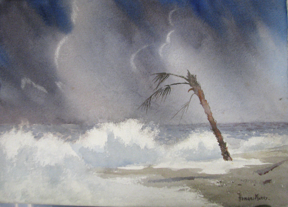 Howard Murry, Edistoe Island: After the Storm, watercolor on paper, 14x19 inches