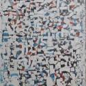Anne Wall Thomas, Alphabet Overlay, 1980 mixed media 72 x 14