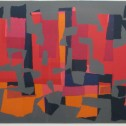 Anne Wall Thomas, August Red, 1969 serigraph 18 x 27.5