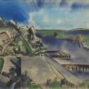 Anne Wall Thomas, Beaufort Landscape, 1948 watercolor 17 x 23