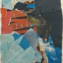 Anne Wall Thomas, Blue Gene, 2014 collage 14.5 x 11