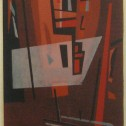Anne Wall Thomas, Composition in Red No. 2, 1960 serigraph 15 x 8.5