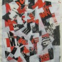 Anne Wall Thomas, Long Overdue, 2014 mixed media 14 x 10