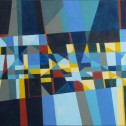 Anne Wall Thomas, Ocean Drive Revisited, 2003 acrylic 24 x 36