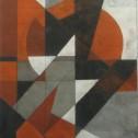 Anne Wall Thomas, Red Sun Rises, 2003 gouache 26 x 19