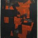 Anne Wall Thomas, Tilt to the Top, 1977 serigraph 29 x 20