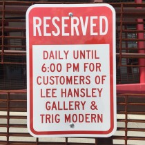 Reserved Parking for Lee Hansley Gallery