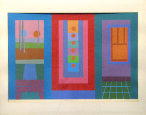 Door, Painting, Window, 1980 Serigraph